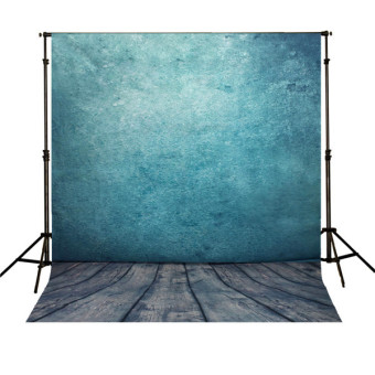 5x7FT Blue Studio Vinyl Cloth Photo Backdrops Photography Background Prop NEW
