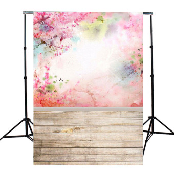 5x7FT Vinyl Pink Watercolor Photography Background Backdrop Photo Studio Props