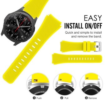 6 PACK Soft Silicone Sport Replacement Strap Band for Samsung GearS3 Frontier SM-R760 SM-R765/S3 Classic SM-R770/Moto 360 2nd Gen46mm Smart Watch - intl - 3