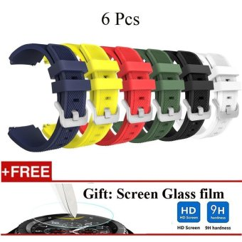 6 Pcs Sports Silicone Bracelet Strap Band For Samsung Gear S3 Classic / S3 Frontier - intl