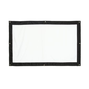 60 Inch 16:9 Indoor Outdoor Movie Projection Screen Theater FilmCurtain Projector- Matte White - intl - 2