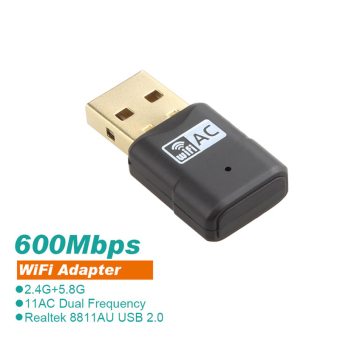 600Mbps USB Wi fi Dual Band 802.11ac/a/b/g/n Wireless N 11AC2.4G/5.8G WiFi Adapter RTL8811AU Network PC Wifi Receiver - Intl