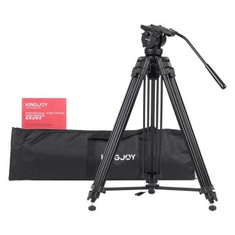 61 Inch Tripod for DSLR Camera Video Recorder (Black) - INTL