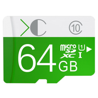 64GB Class 10 Micro SD card with Adaptor(Green) - Intl