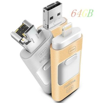 64GB Pen Drive for Apple Iphone 6s Andorid + OTG Pendrive U Disk 3 in 1
