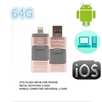 64GB Pen Drive for Apple Iphone 6s Andorid + OTG Pendrive U Disk 3in 1 Memory Stick USB 2.0 - intl