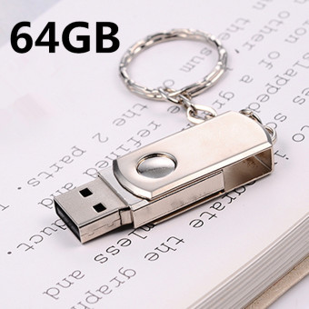 64GB Rotating Metal USB 2.0 Flash Memory Drive Stick Pen Thumb Key Cute U Disk black - intl