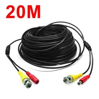 66Feet/20M BNC RCA Audio Video Power Extension Cable DVRSurveillance Wire for CCTV Security Camera - intl