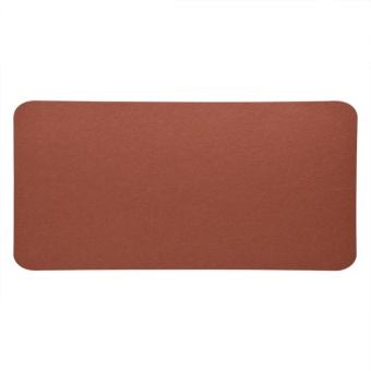 68x33cm Felts Table Mouse Pad Office Desk Laptop Mat Anti-staticComputer PC Pads (Brown) - intl