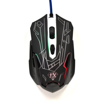 6D Button LED Optical USB Wired Gaming Mouse Game Mice For PCLaptop Pro 3200DPI JX511