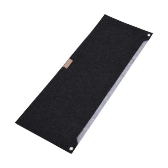 ... 80x30cm Felts Table Mouse Pad Office Desk Computer PC Pads DarkGray 2 layers intl