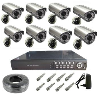 8ch CCTV Camera Package (Silver/Black)