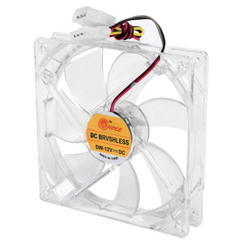 8cm Mini Quiet Clear Shell Colorful LED 4 Pin Connector ComputerDesktop PC Case CPU Cooler Cooling Fan - Intl