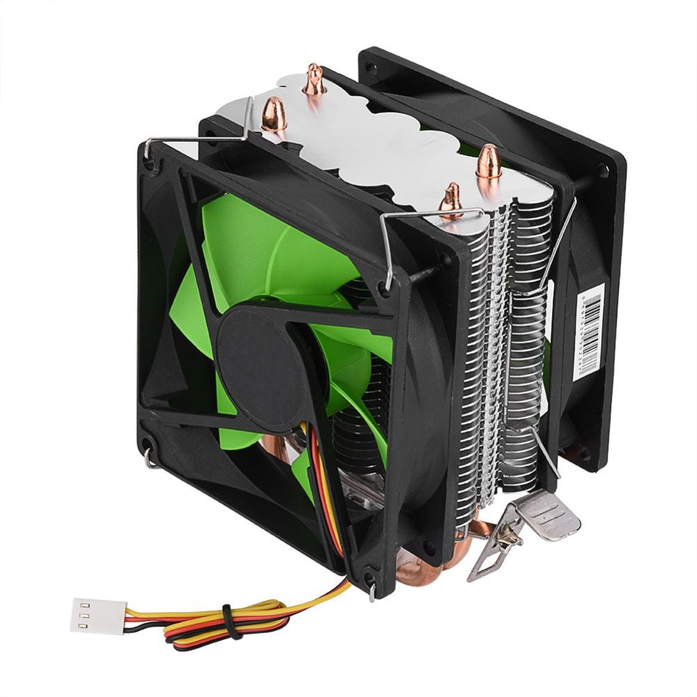 90mm 3Pin Dual-sided Fan CPU Cooler Heatsink Quiet for IntelLGA775/