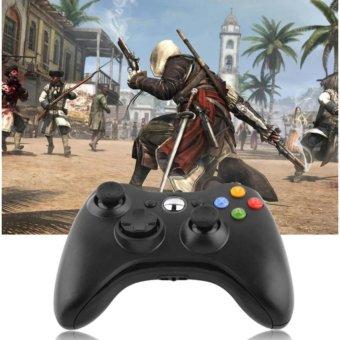 A-K USB Wired Joypa Gamepad Controller For Microsoft Xbox And Slim360 PC Windows #11B (Black) - 3