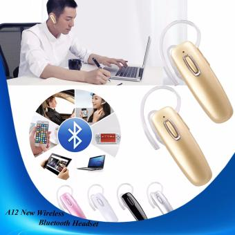A12 NEW Wireless Bluettoth Headset (Gold) SET OF 2