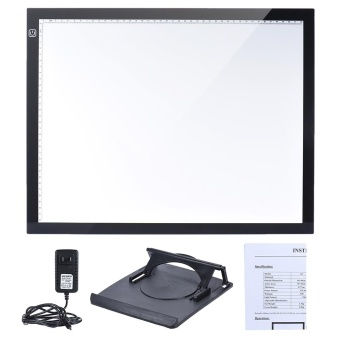 A3 47 * 37cm 21.4 inch LED Artist Stencil Board Tattoo Drawing Tracing Table Display Light Box Pad LED Copy Board Intelligent Touch Control 3 Adjustable Brightness Levels with Multifunction Holder - intl - 3