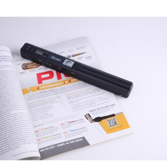 A4 Handheld Mobile Document Portable Scanner 900DPI Color and MonoJPG or PDF Format Selection Black - intl