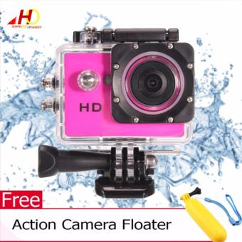 A7 Ultimate Sports Action Cam Under Water Extreme (Pink) w/ FREEAction Camera Floater