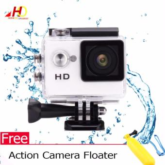 A7 Ultimate Sports Action Cam Under Water Extreme (White) w/ FREEAction Camera Floater