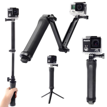 Accessories for Gopro 3-Way Extendable Monopod Pole With TripodAdapter for Actionn Cameras (Black)
