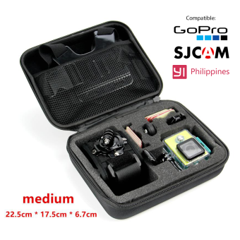 Accessories FOR GoPro GP102 Outdoor Protection High Quality EVA 22x 17 x 7cm Middle Size Collection Box Bag Case For SJ4000 GoproHero 4/3+/3/2