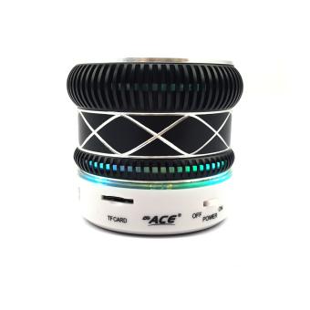 Ace M-01 Shining Mini Music Speaker with Radio/USB (Blue)