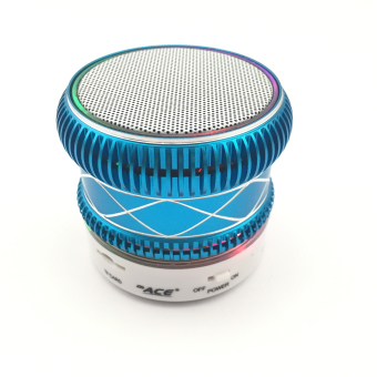 Ace M-01 Shining Mini Music Speaker with Radio/USB (Blue) - picture 2