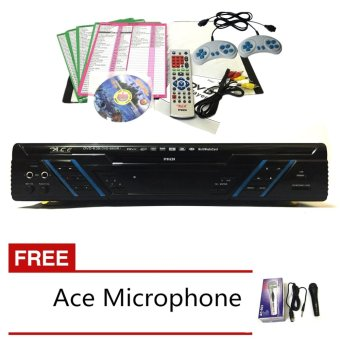 Ace MIDI-9905 All In One Karaoke/DVD Player have Games and Radiowith Ace-504 microphone