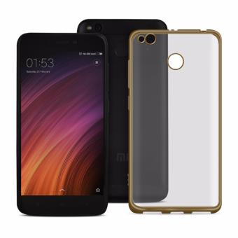 ACE Soft TPU Jelly Case for Xiaomi Redmi 4X (Gold Clear)