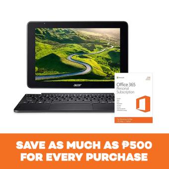 """Acer One 10 Intel Atom 10.1"""" QC Z3735F 1.33Ghz M500GB 32GB 2GBDarkSilver Window 10 with Microsoft Office 365"""
