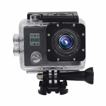 Action Camera Ultra HD 4K 30fps 1080p remote Wifi 30m Waterproof Camera 2.0LCD Double Screen mini Sport Camera DV - intl