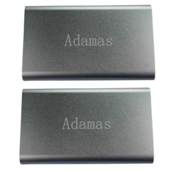 Adamas 20000mAh Stainless Mobile Power Bank (Silver) Set Of 2