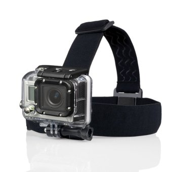 Adjustable Camera Head Strap Mount For GoPro Hero3 Go Pro 2 3 &Hero HD Hero2 Headstrap (Black)
