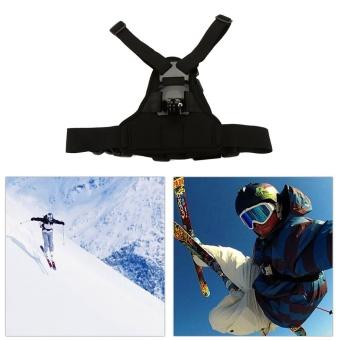 Adjustable Elastic Body Harness Chest Strap Mount Band Belt for GoPro Hero 4 3+ SJCAM action Camera - intl - 5