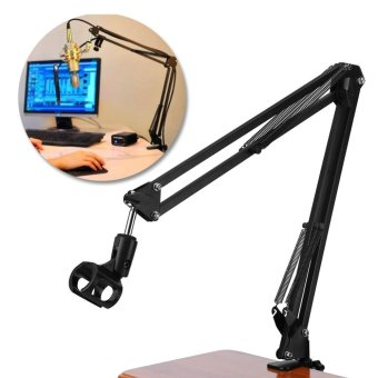 Adjustable Professional Recording Stand Mount Holder withMicrophone Clip - intl