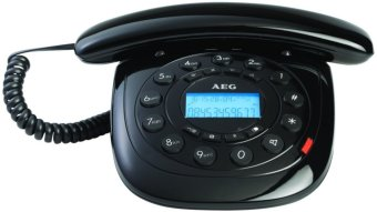 AEG Style12 Corded Telephone with LCD Display (Black)