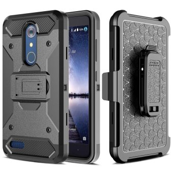 [Aegis Series] Heavy Duty Rugged Full-Body Armor Holster Case [Belt Swivel Clip [Kickstand] For LG Stylo 3 / LG Stylus 3 2017 LS777 - intl