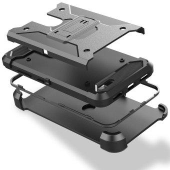 [Aegis Series] Heavy Duty Rugged Full-Body Armor Holster Case [Belt Swivel Clip [Kickstand] For LG Stylo 3 / LG Stylus 3 2017 LS777 - intl - 3