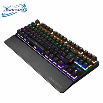AESOPCOM 87Keys Backlight Mechanical Gaming Keyboard BLACK