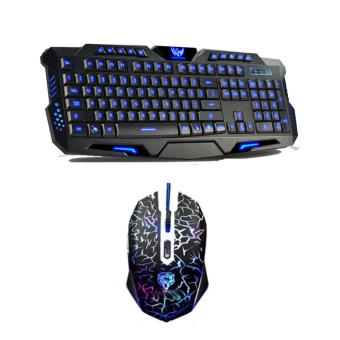 AESOPCOM K10 Gaming USB Keyboard and Mouse Combo BLACK
