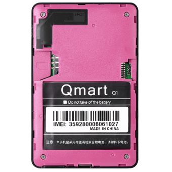 AIEK Q1 1.0 inch Ultra-thin Card Phone Audio Player Sound Recorder(Rose) - intl - 3