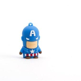 Airborne Tech Airhead Captain America 32GB Flash Drive (Blue)