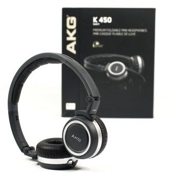 AKG K450 (Navy) High-Performance Foldable Mini Headphone - intl