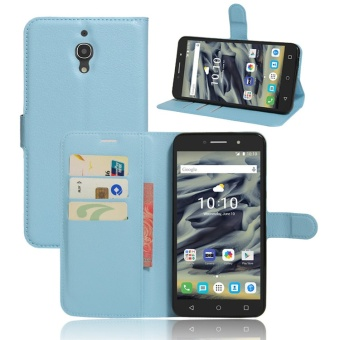 Alcatel pixi4/4g around open support card instert protective case mobile phone wallet