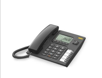Alcatel T76 Corded landline telephone with Display (Black)