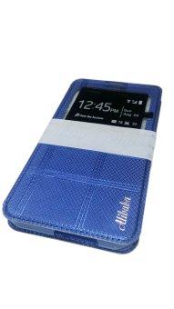 Alibaba Fashion PU Leather Case for Samsung Galaxy S6 Edge (Blue)