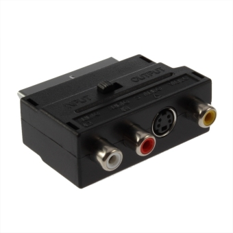 Allwin RGB Scart to Composite RCA SVHS S-Video AV TV Audio CableAdapter