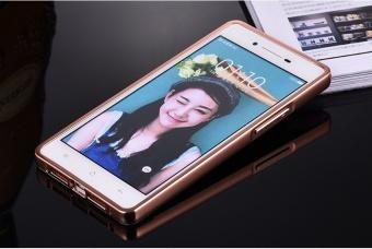 Aluminium Metal Mirror Bumper Case Cover For Oppo R1X (Color:c0) - intl - 2