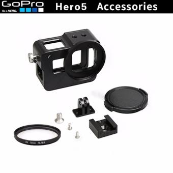 Aluminium Metal Protect CNC Shell Protective Housing Frame Case Lens Cap Cover Filter For gopro5 Go Pro Hero 5 Action Sport Camera